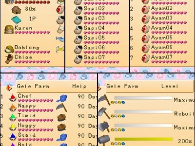 Harvest Moon: Back To Nature - Game Shark Codes